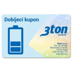 Dobíjecí kupon 3ton mobile
